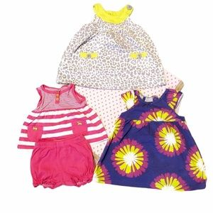 Carters 12 month dress lot and blanket